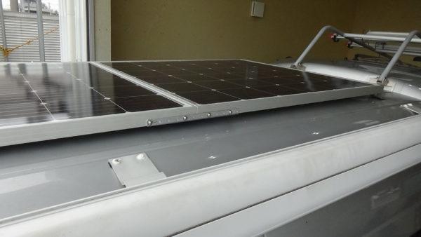 ソーラーパネル2枚加工